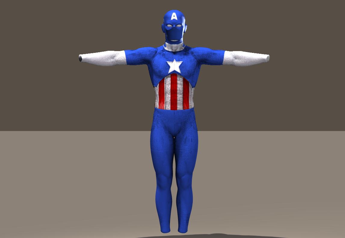 M4 Bodysuit Cap America texture