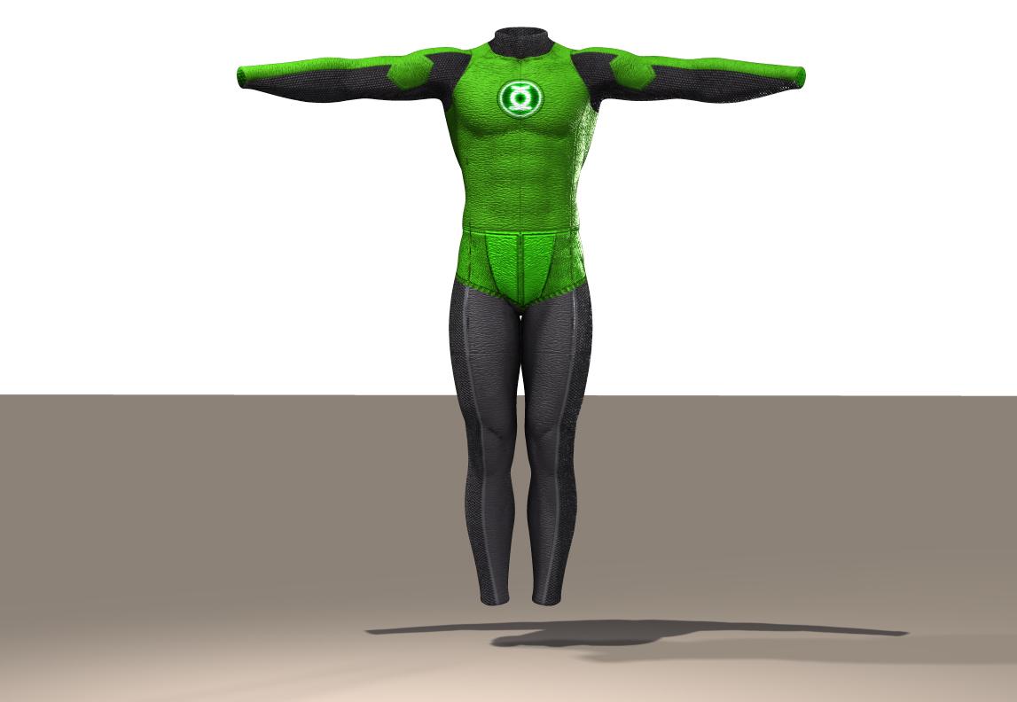 M4 Bodysuit Green Lantern texture