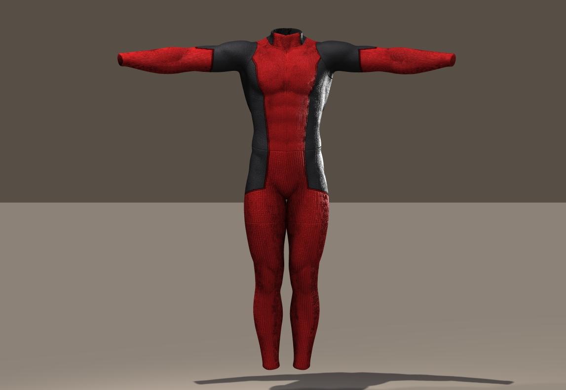 M4 Bodysuit Deadpool texture