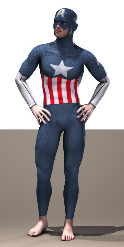Captain America second skin texture x M4