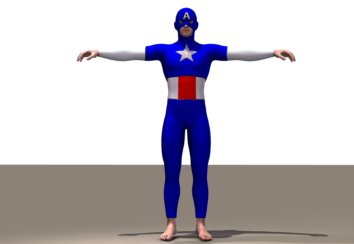 Cap America Texture x Joequick Mach 2 bodysuit