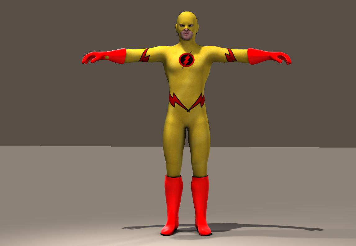 Flash Yellow Texture x Joequick Mach 2 bodysuit
