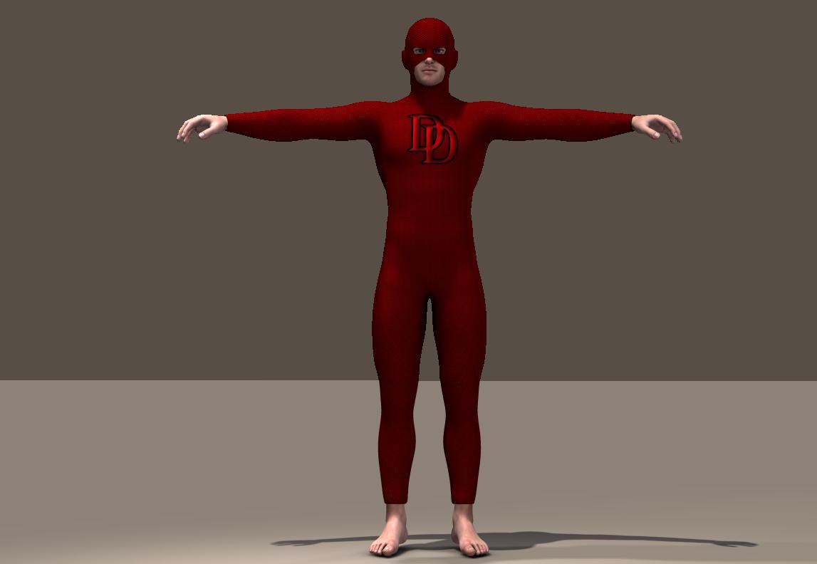 Daredevil Texture x Joequick Mach 2 bodysuit