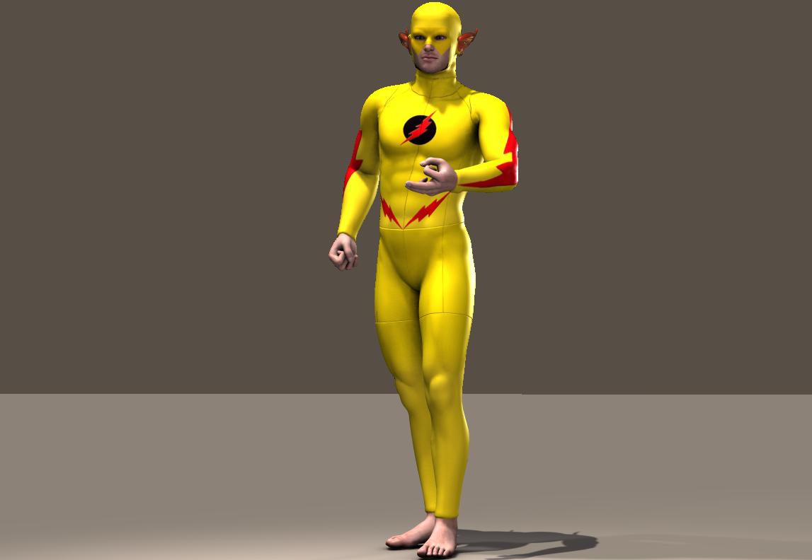 Flash Yellow texture x M4 Bodysuit