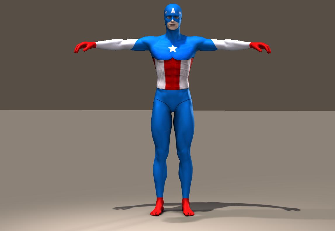 Cap America second skin textures for M5