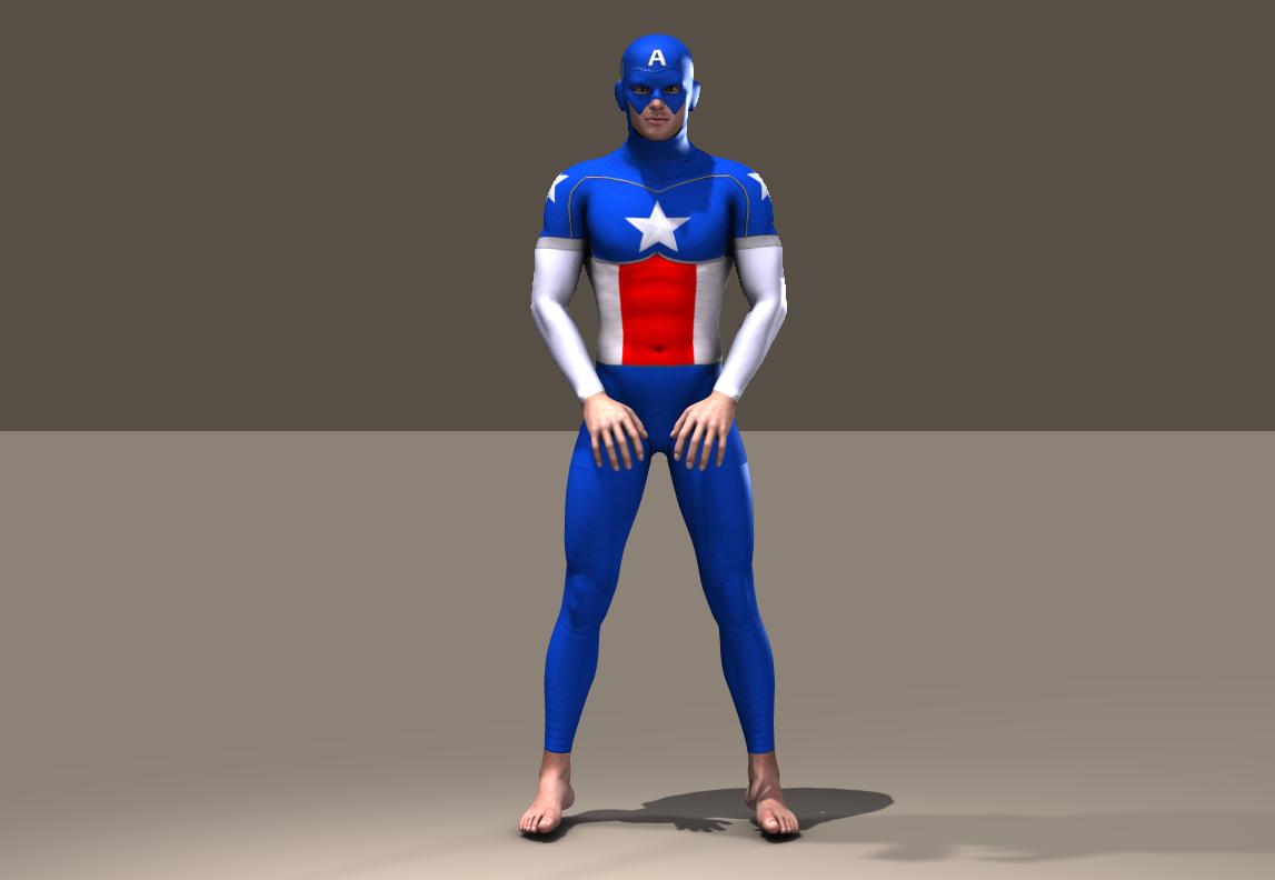 Cap America second skin textures for M4