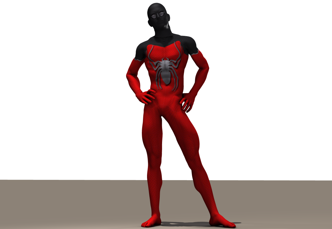 Red Spiderman second skin for M4