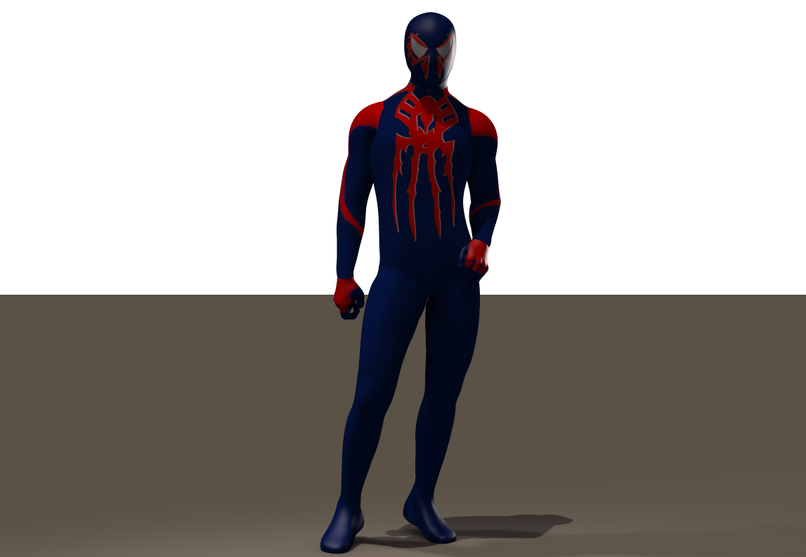 Spiderman 2099 textures for Ice-Boy spider suit