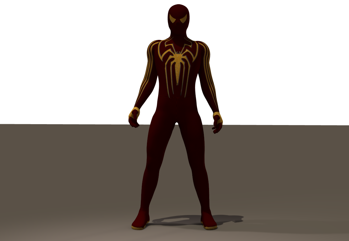 Gold Spiderman textures for Ice-Boy spider suit