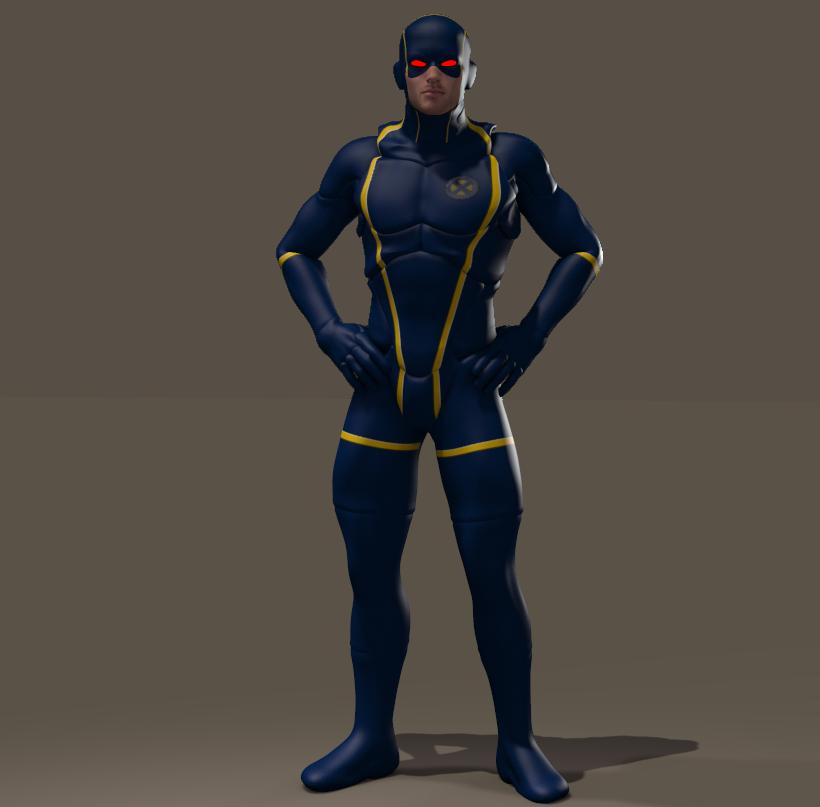 Cyclope texture for Xurge3d Flexxsuit