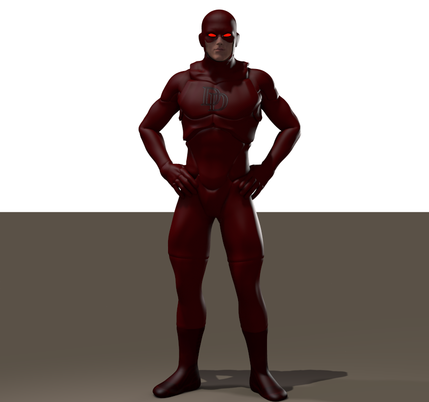 Daredevil texture for Xurge 3d flexxsuit
