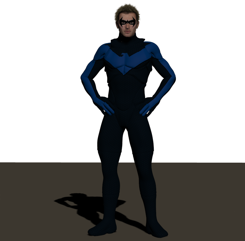Nightwing texture for Xurge 3d Flexxsuit