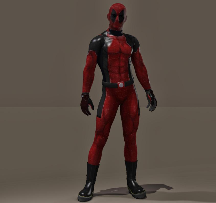 Deadpool Textures for Daz3d Bodysuit