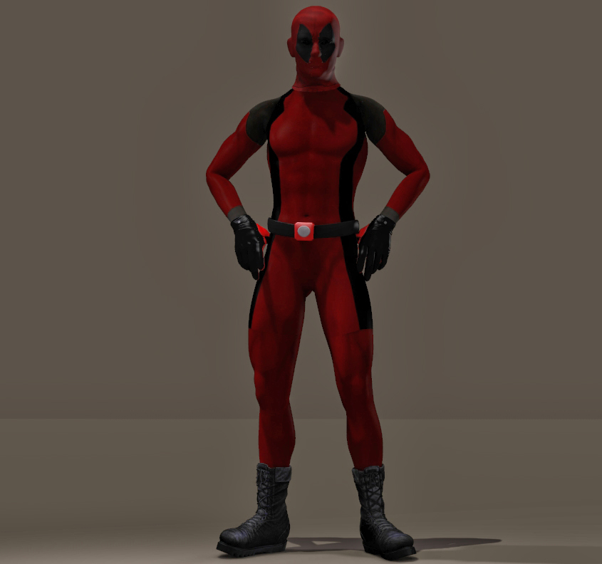 Deadpool Textures second skin for M4