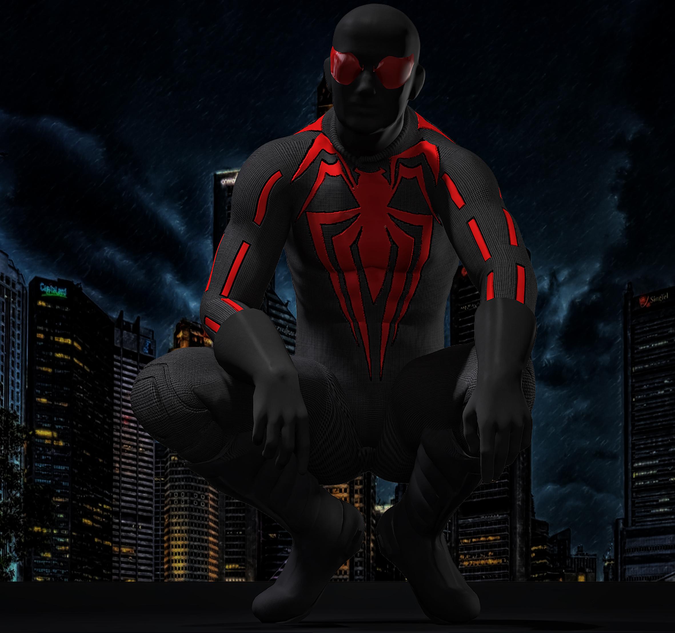 Dark Spiderman textures