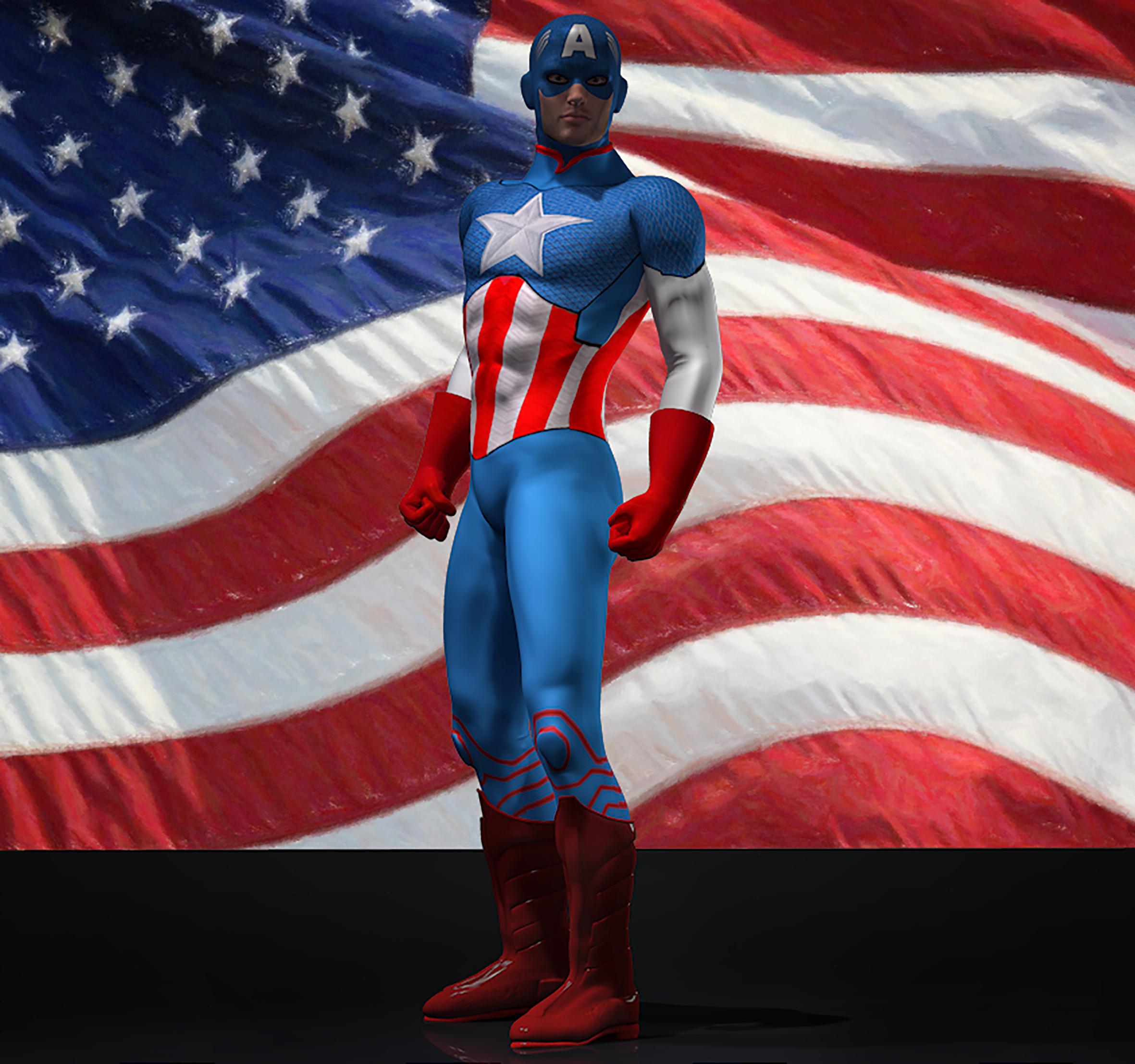 Cap America textures