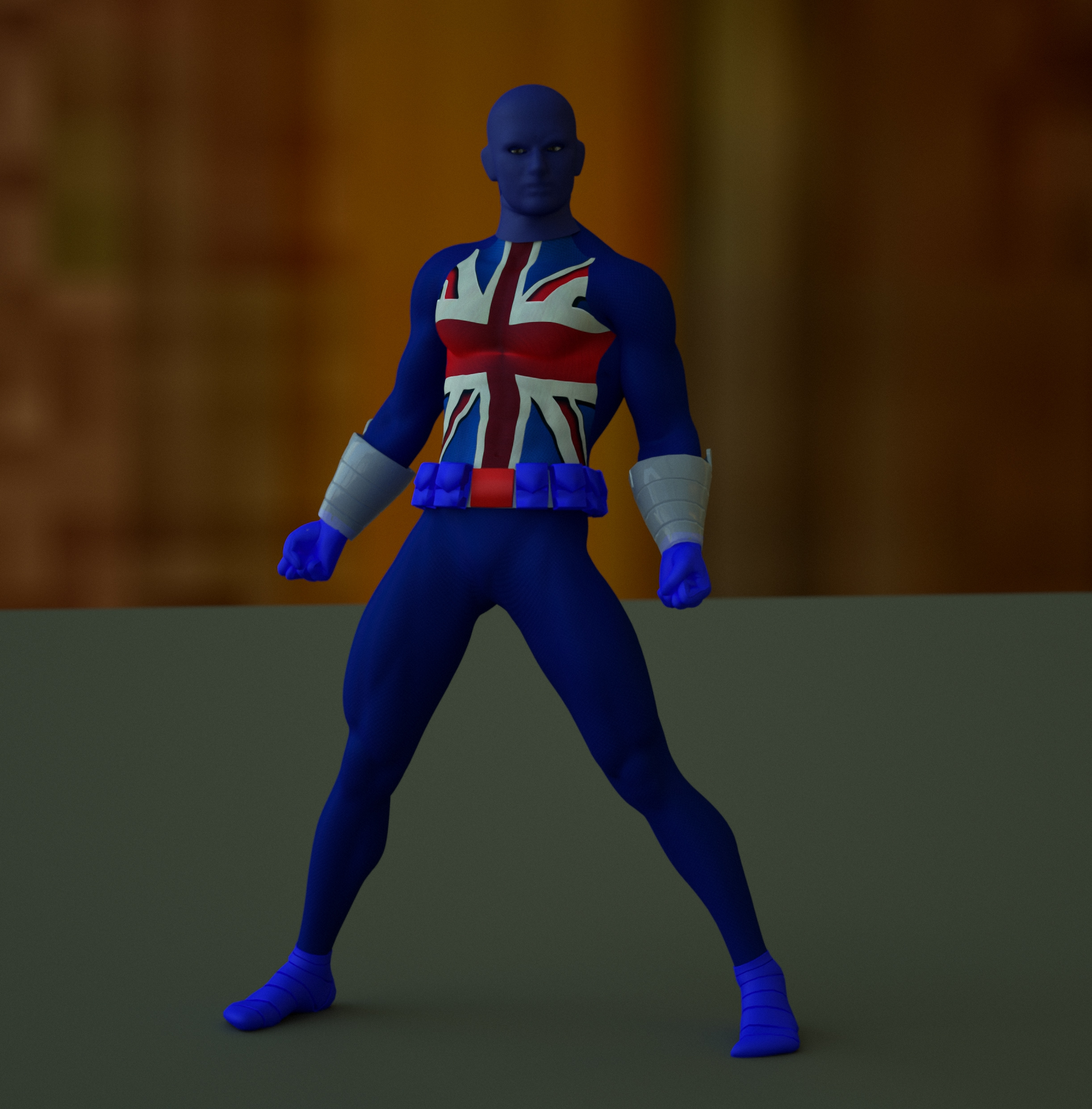 Union Jack second skin textures for M4