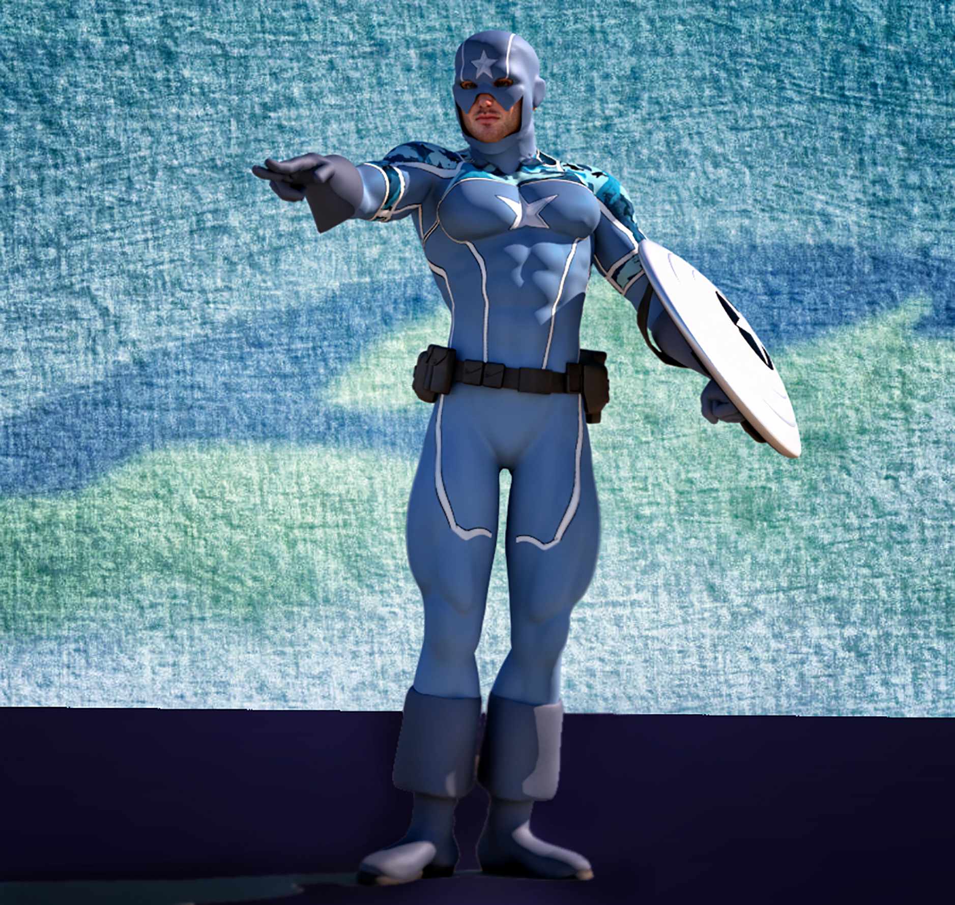 Cap America Age of X second skin textures for M4