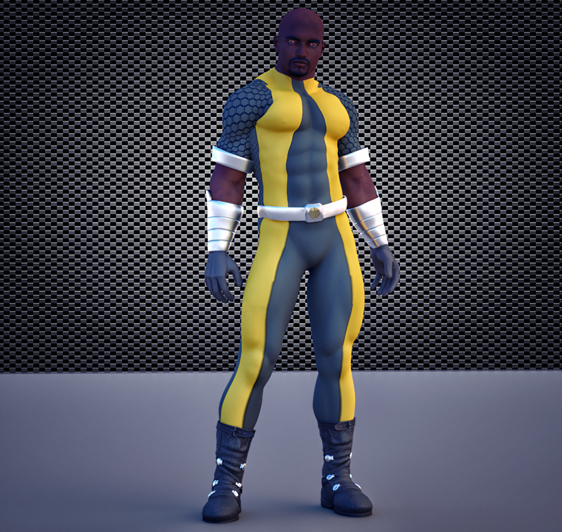 Luke Cage second skin textures for M4