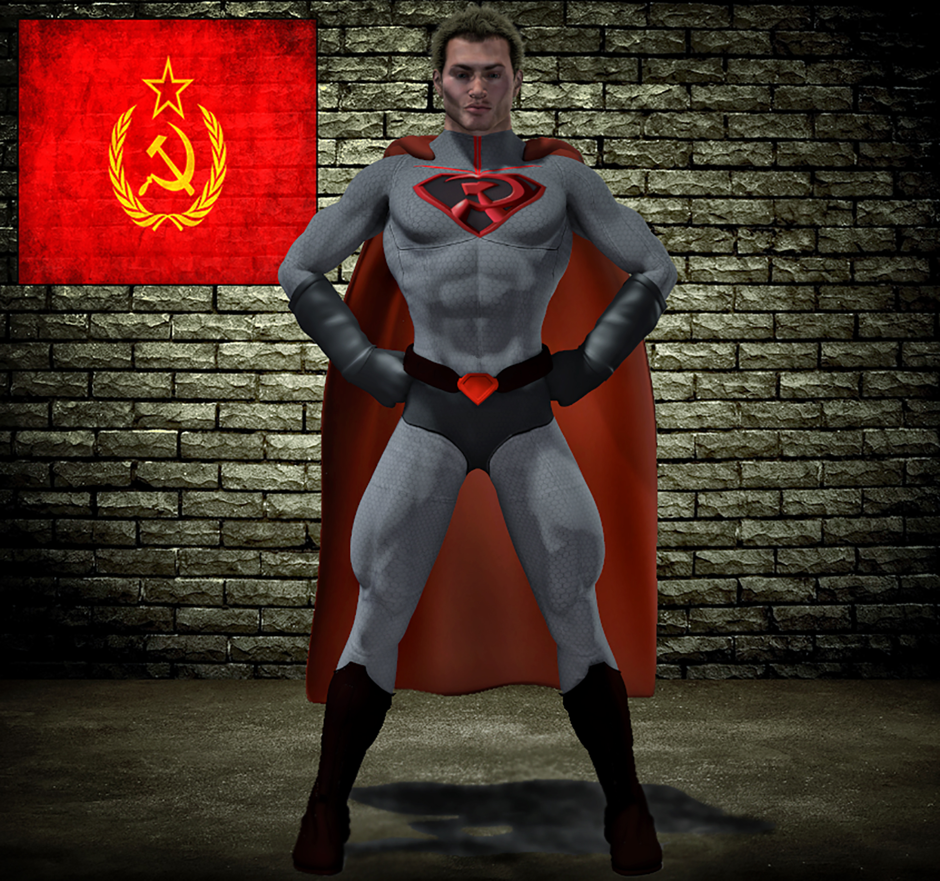 Superman red son second skin textures for M4
