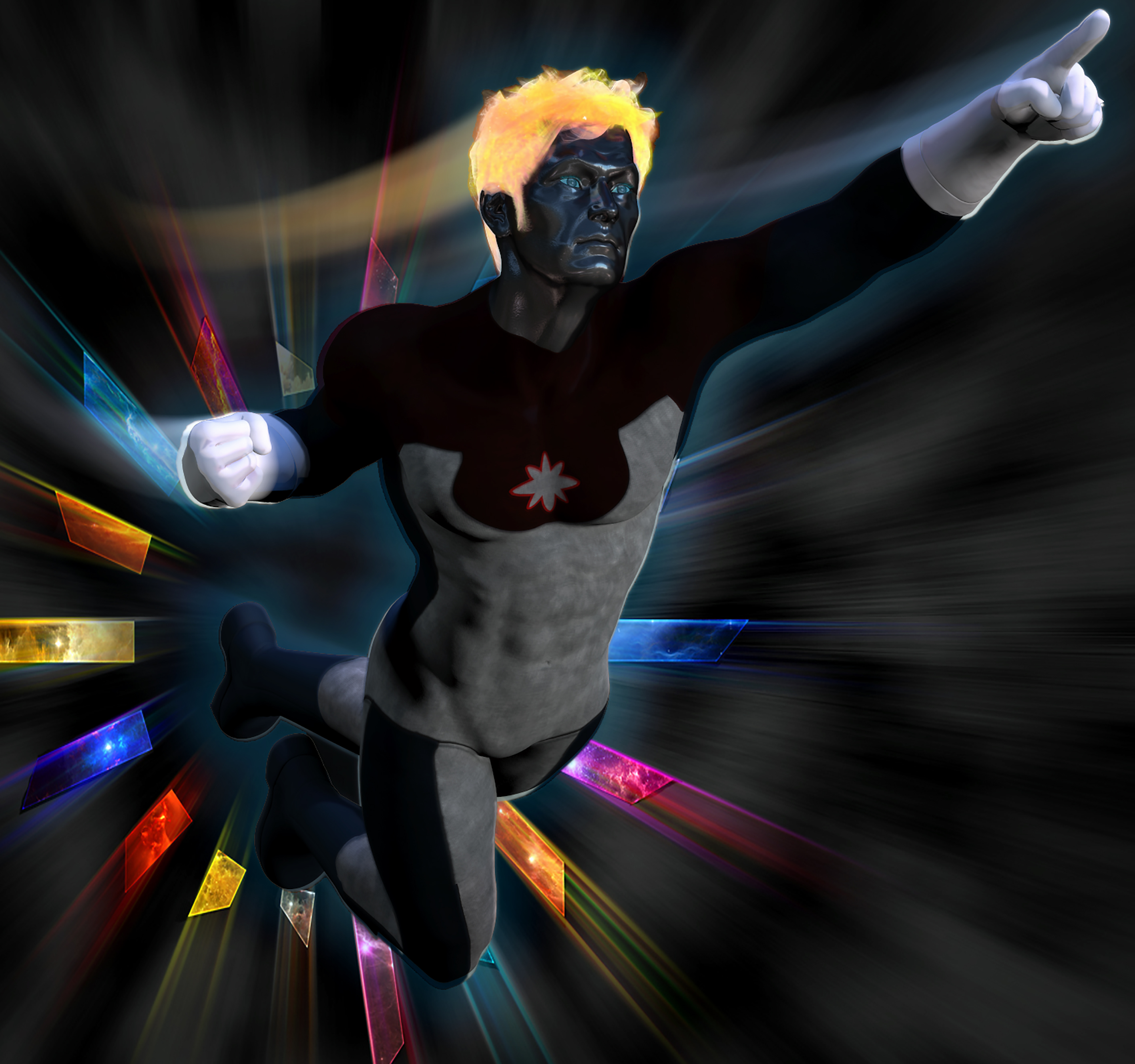 Captain Atom second skin textures for M4 by hiram67