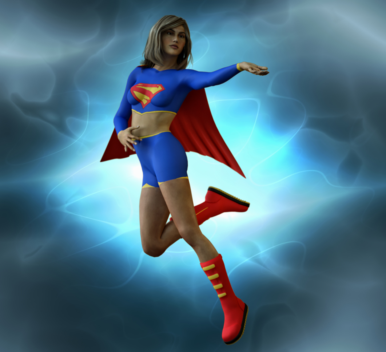 Supergirl second skin for HiveWire 3d Dawn