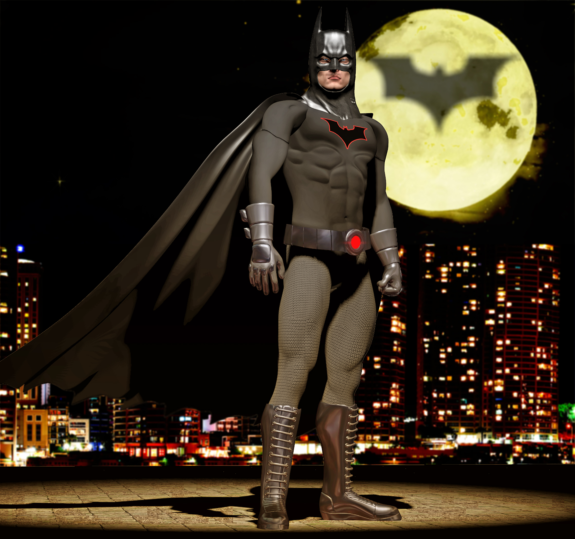 Batman second skin textures for M4