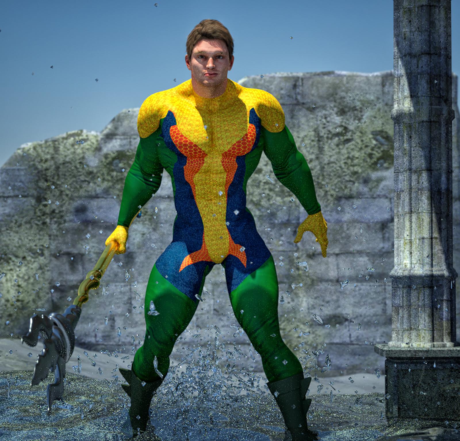 Aquaman second skin textures for M4