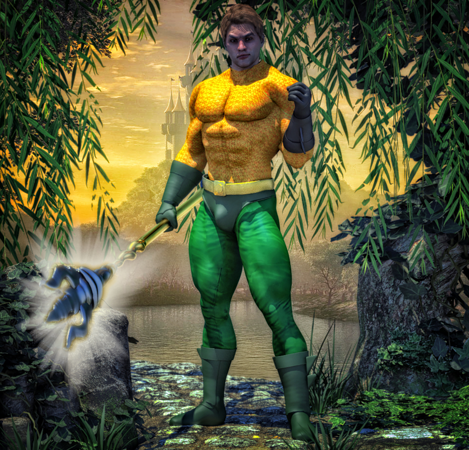 Aquaman classic second skin textures x M4 by hiram67