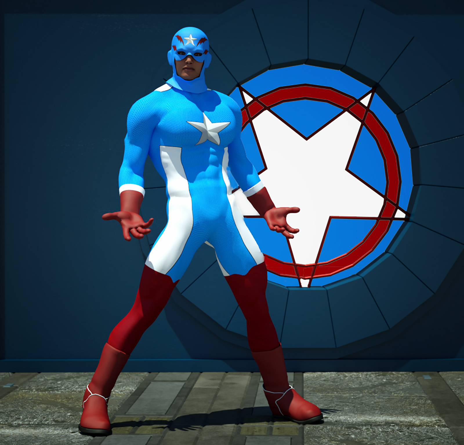 Captain USA second skin textures x M4