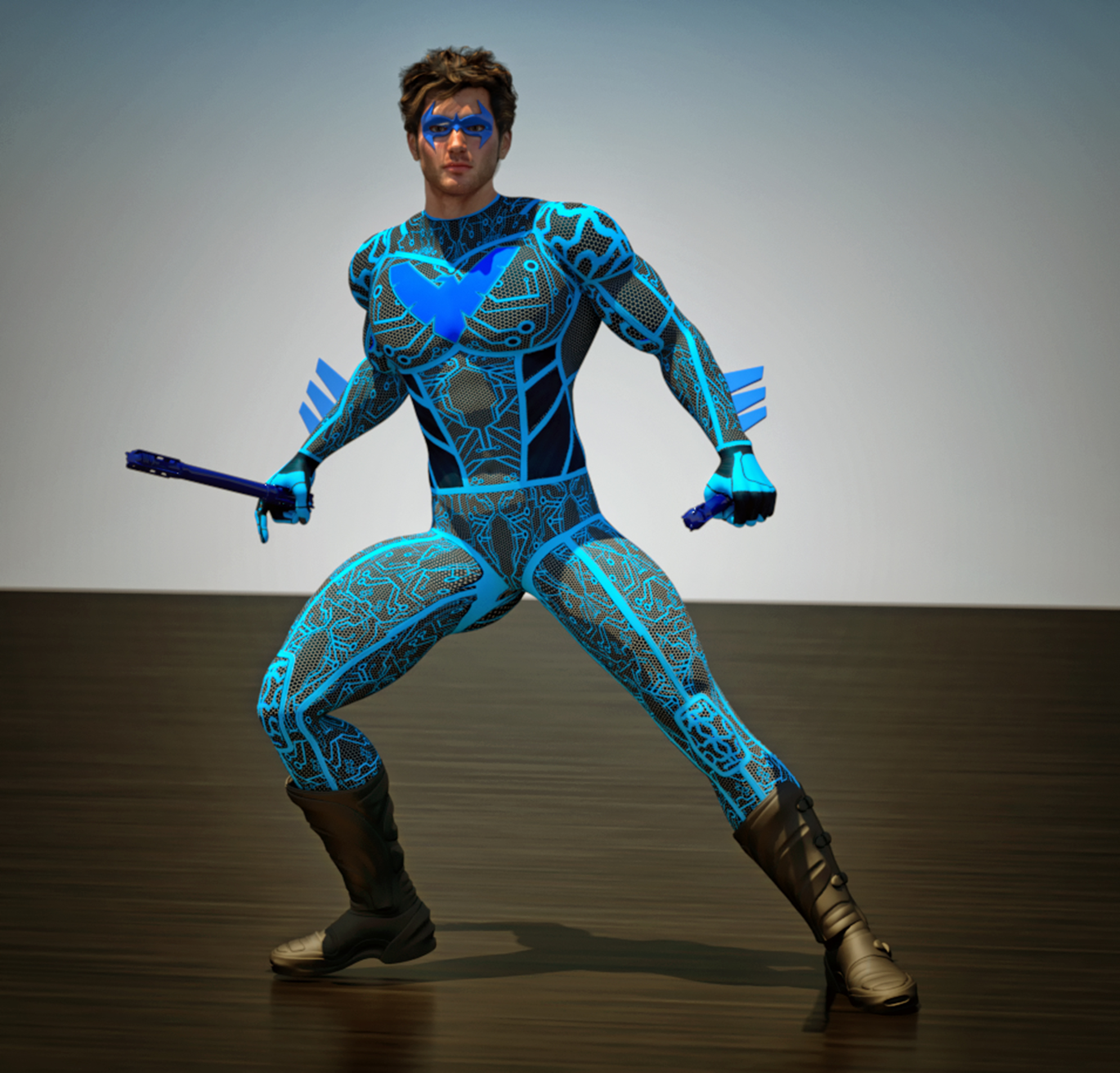 Nightwing tron 2nd skin textures for M4
