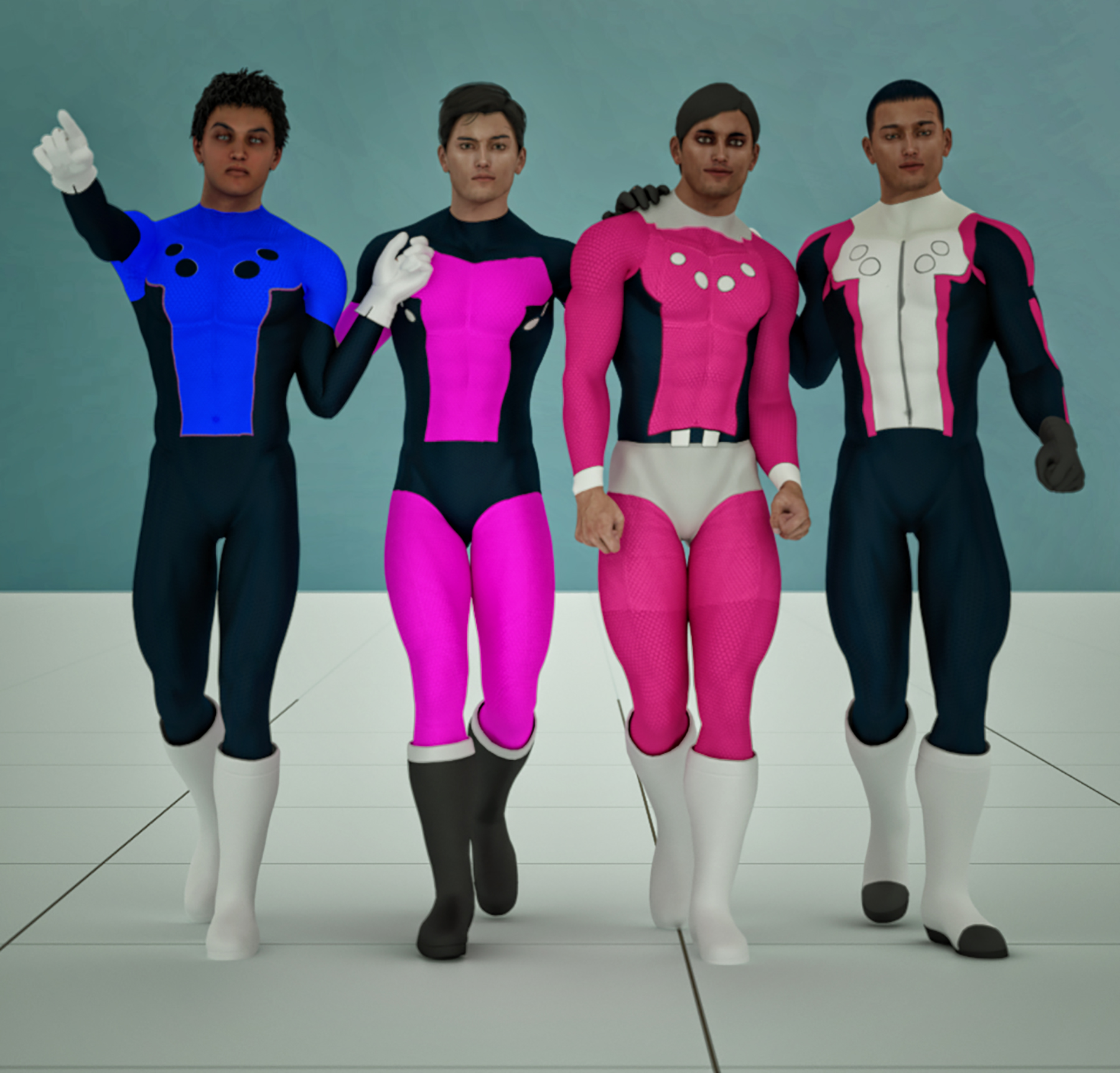 Cosmic Boy 2nd skin textures for M4