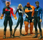 Fantastic Four 2nd skins x M4 e V4