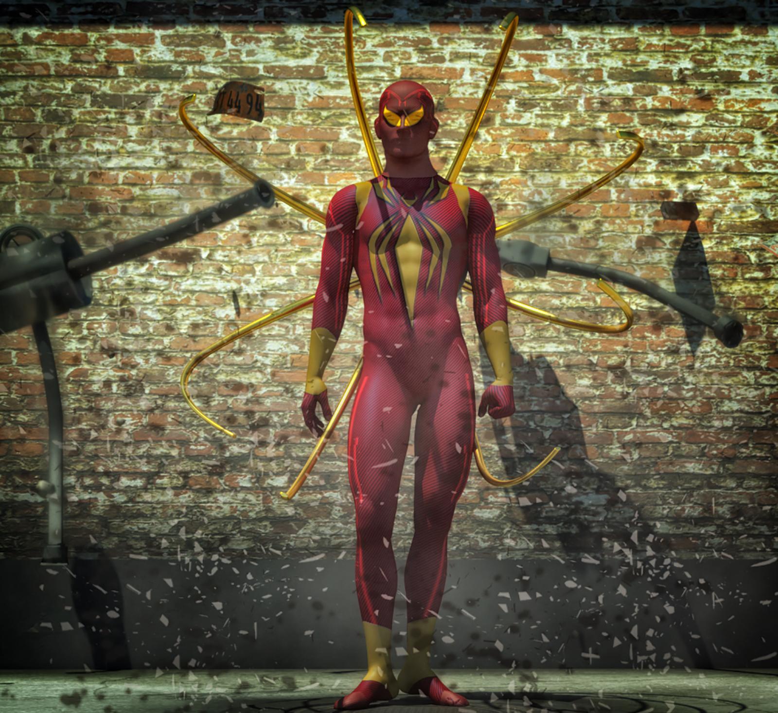 Iron Spiderman 2nd skin textures x M4