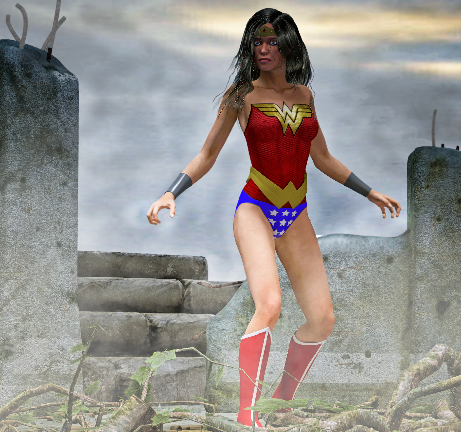 Wonder Woman 2nd skin texture for V4