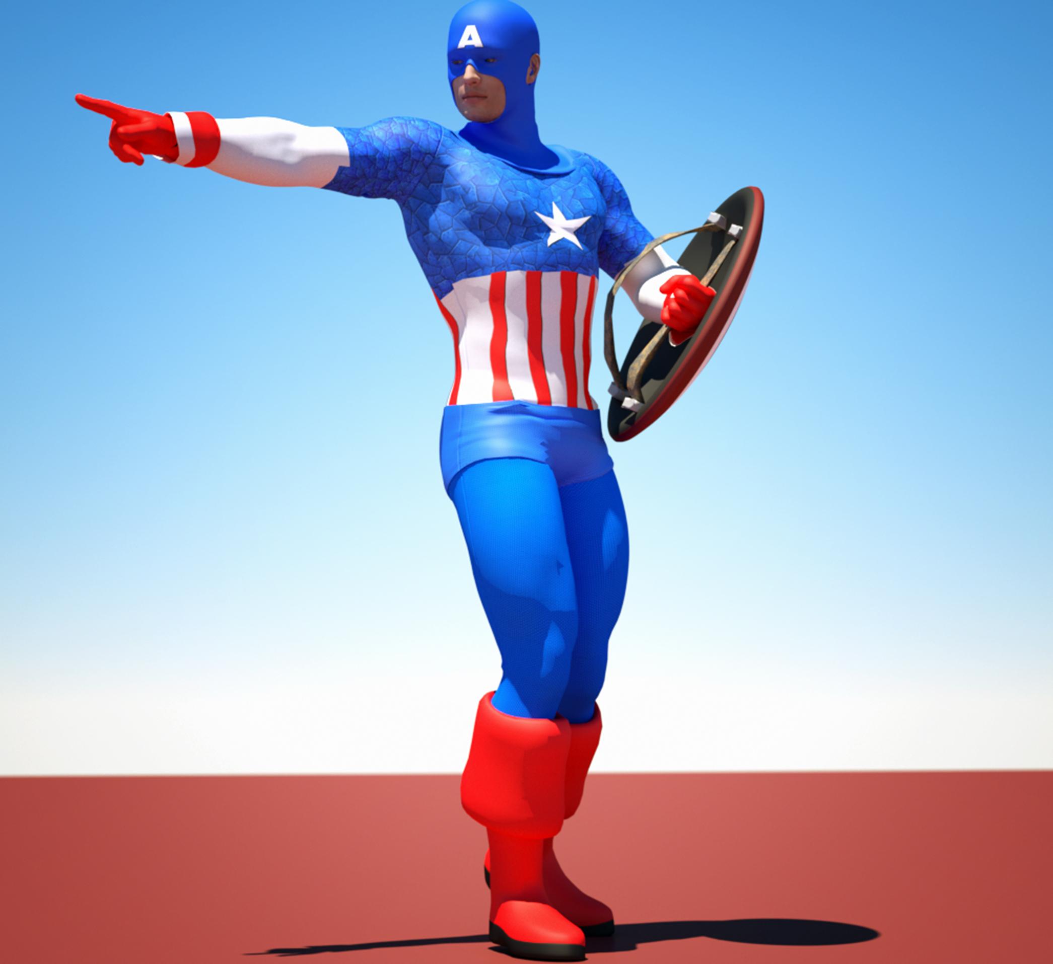 Cap America textures 4 Goldenage suit