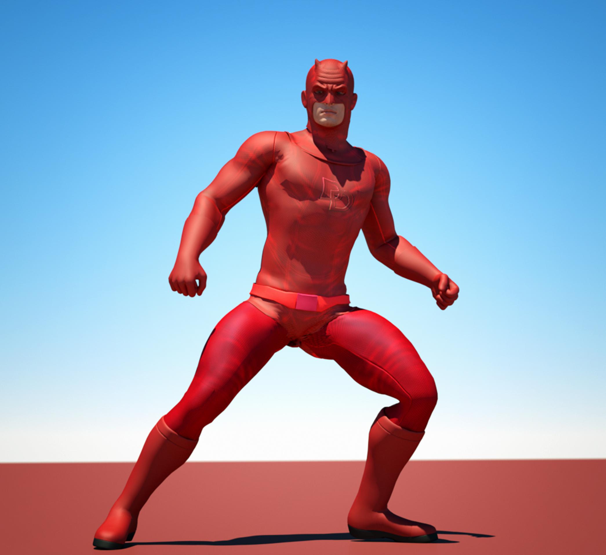 Daredevil textures 4 Goldenage suit