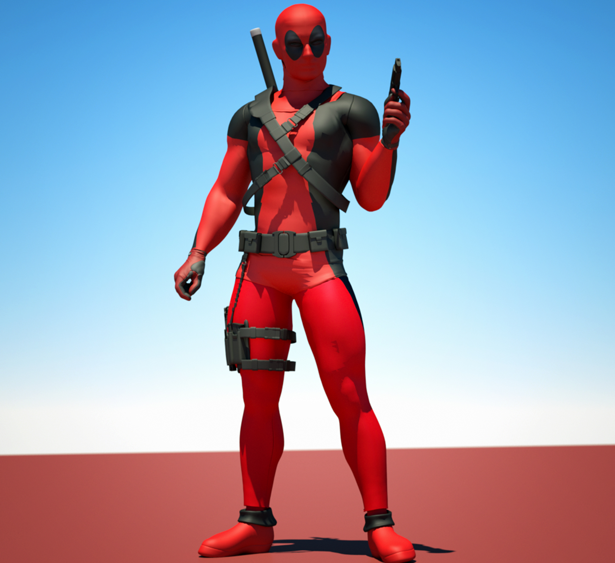 Deadpool textures 4 Goldenage suit