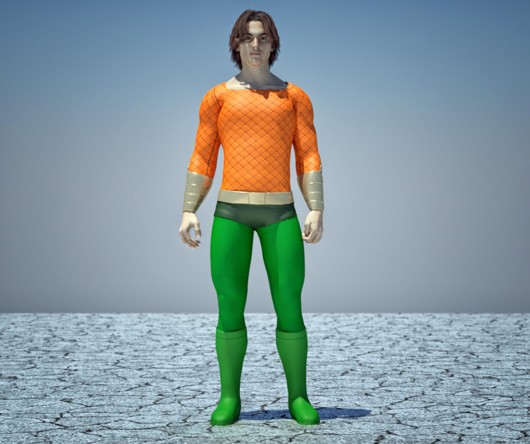 Aquaman textures 4 Goldenage suit