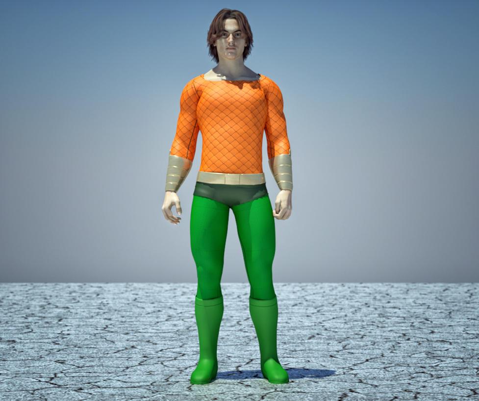 Aquaman textures 4 Goldenage suit by hiram67