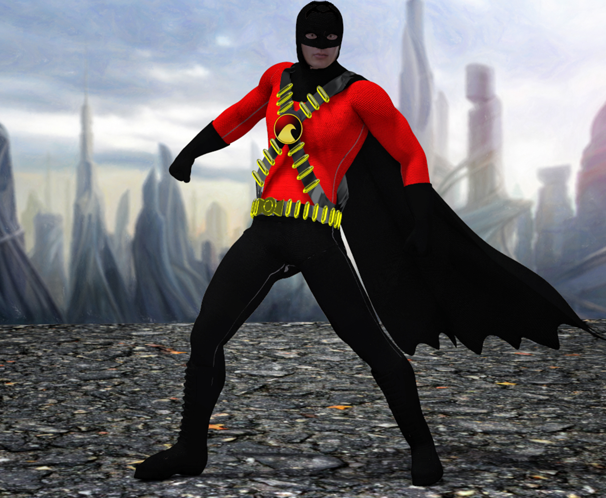 Red Robin texture 4 goldenage suit