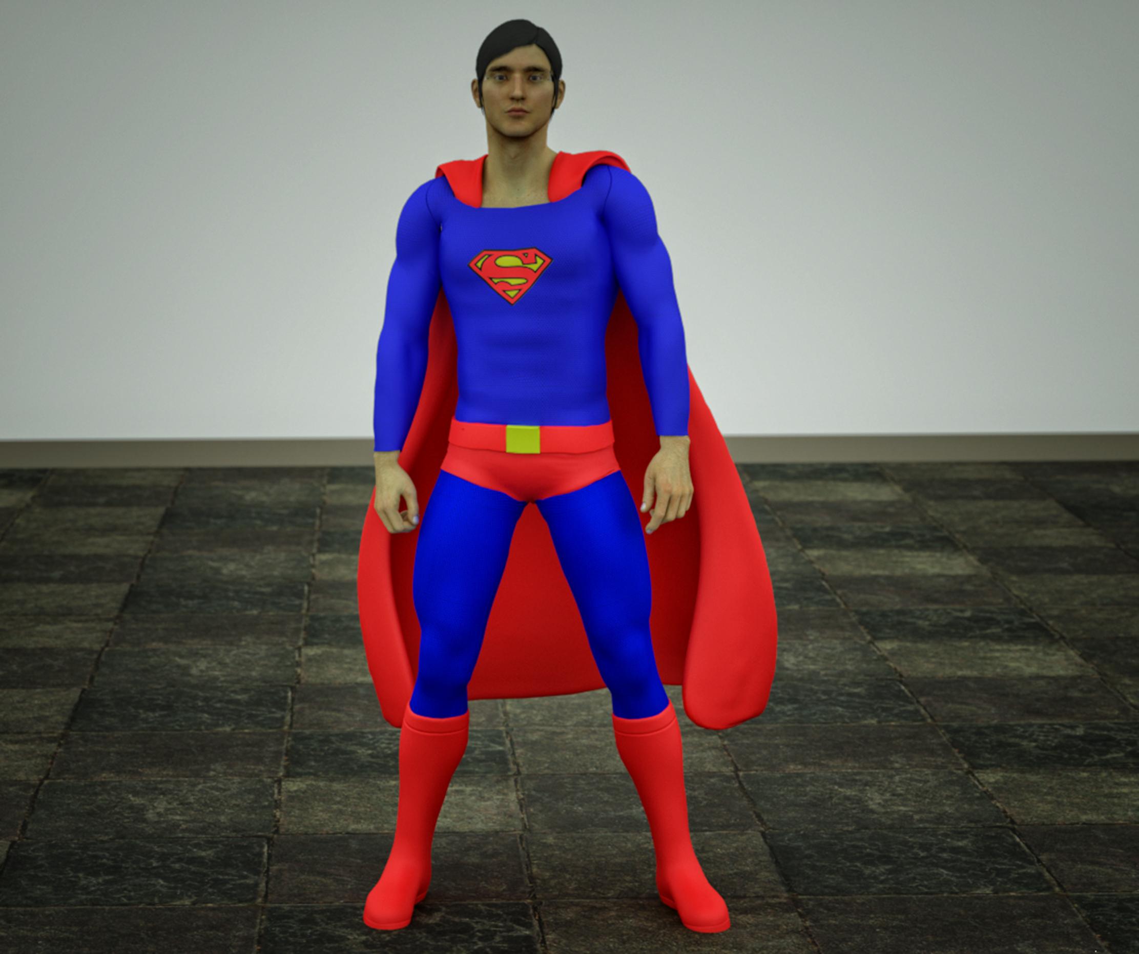 Superman texture for goldenage suit