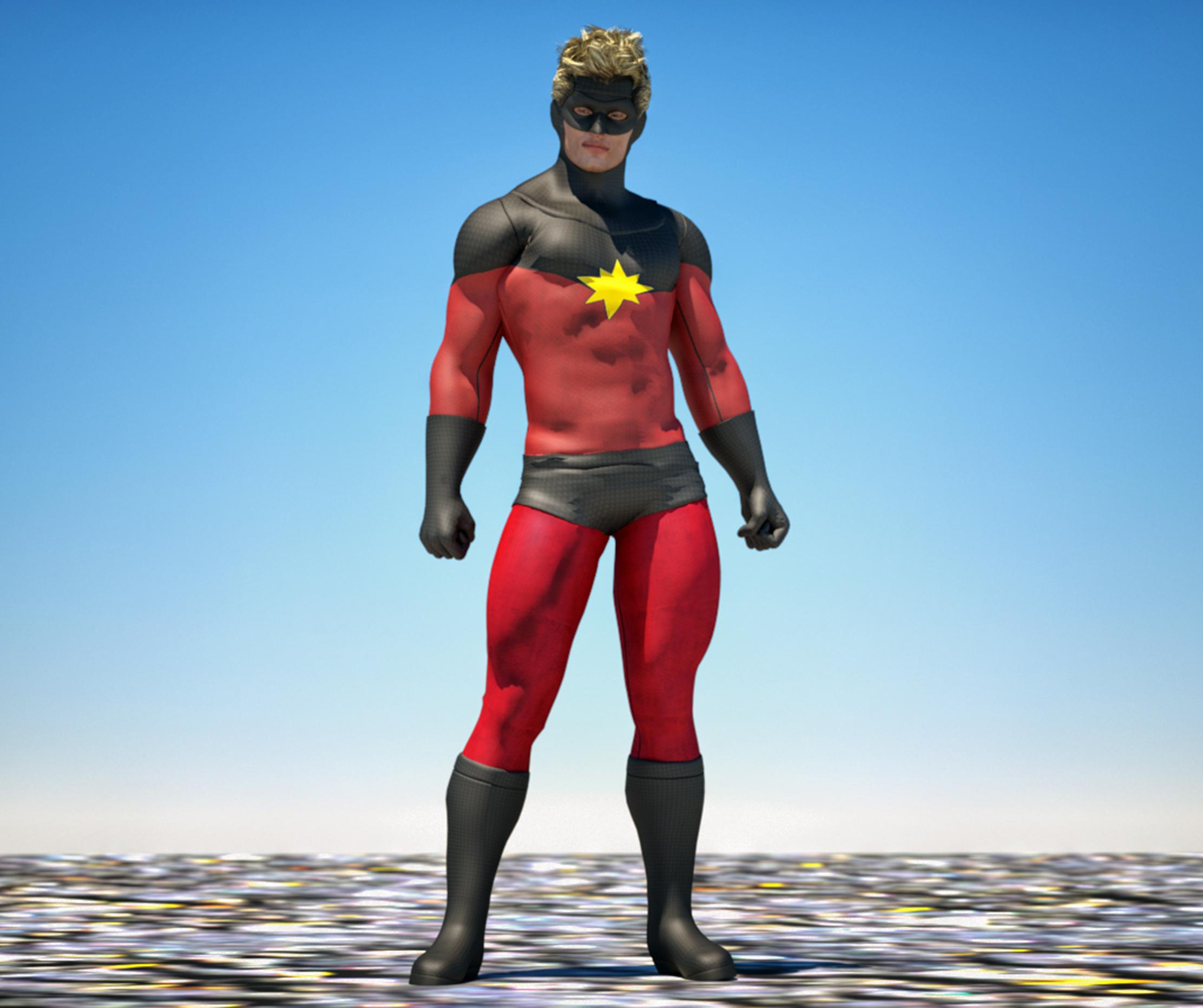 Cap Marvel textures 4 goldenage suit by hiram67