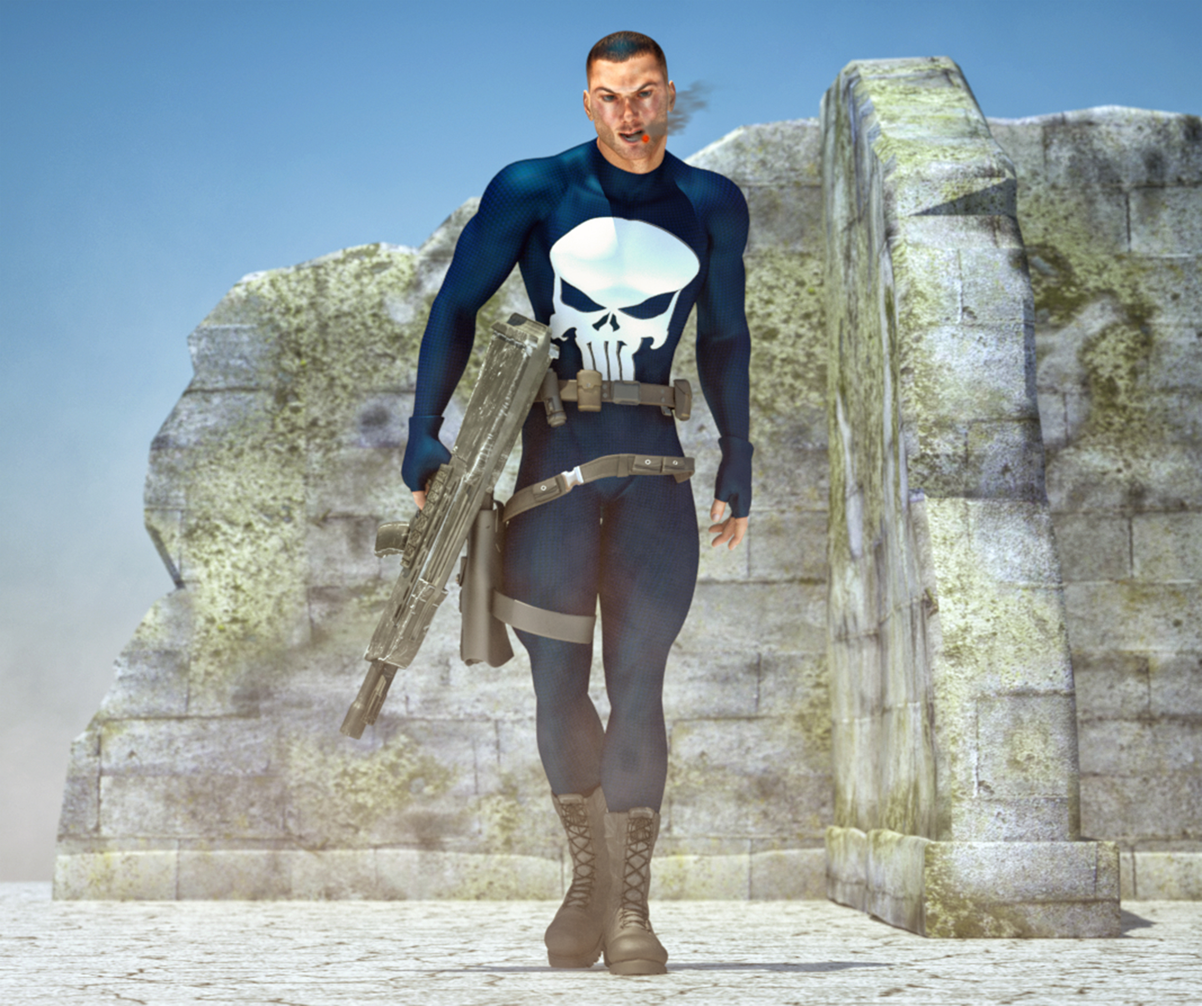 The Punisher 2nd skin textures 4 M4
