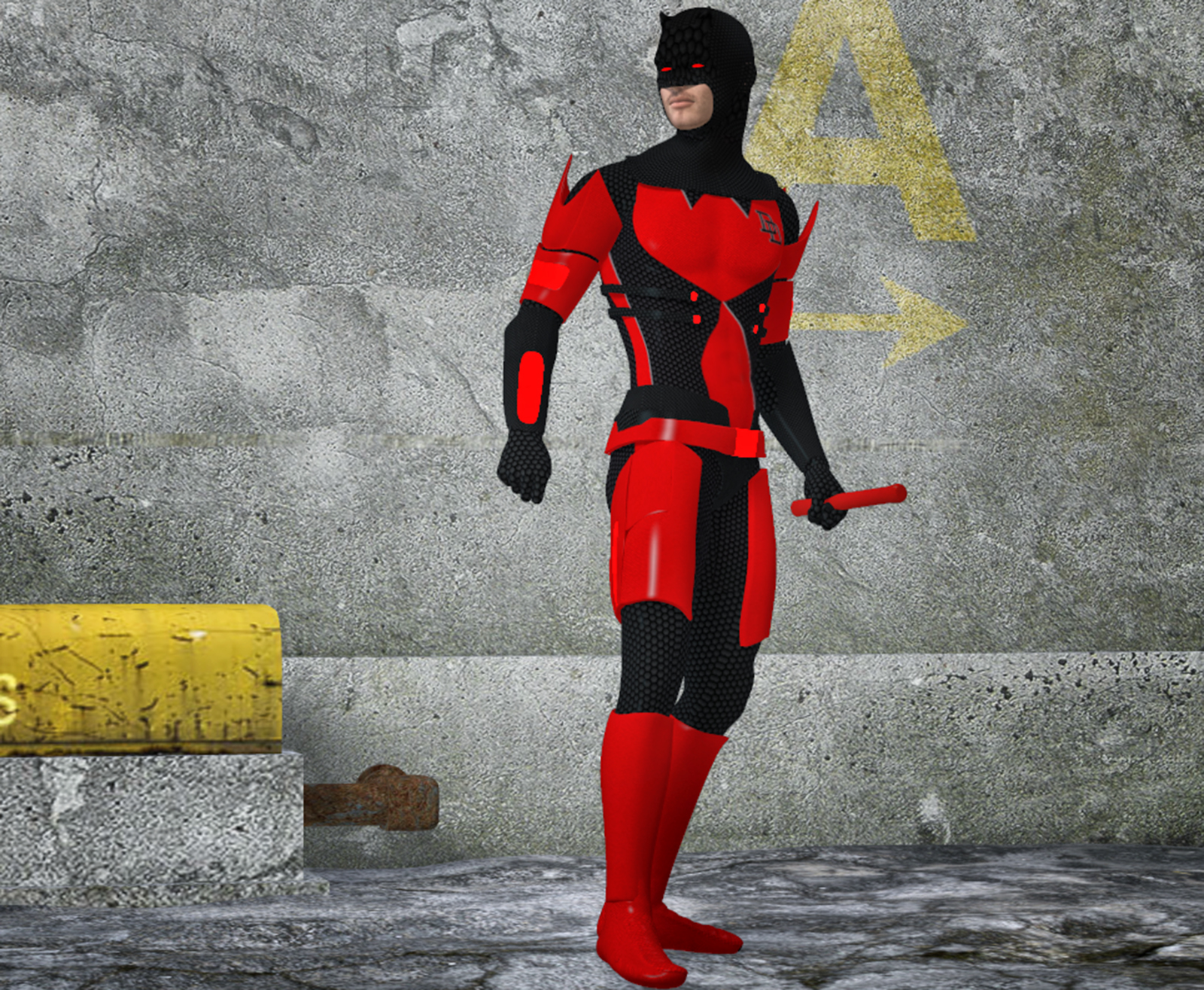 Daredevil armored 2nd skin textures 4 M4