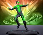 Green Lantern texture for M4 daz3 bodysuit