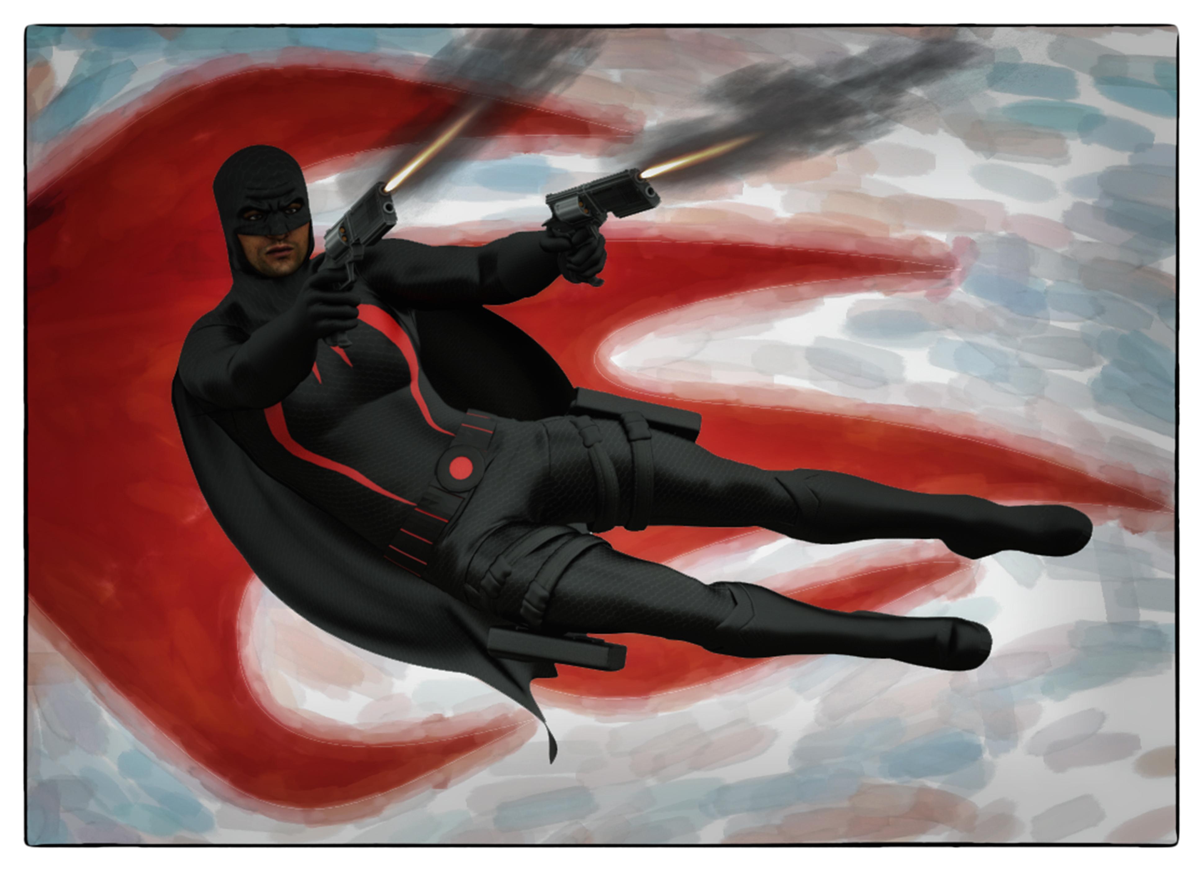 Black Bat textures for Goldenage suit by Joequick