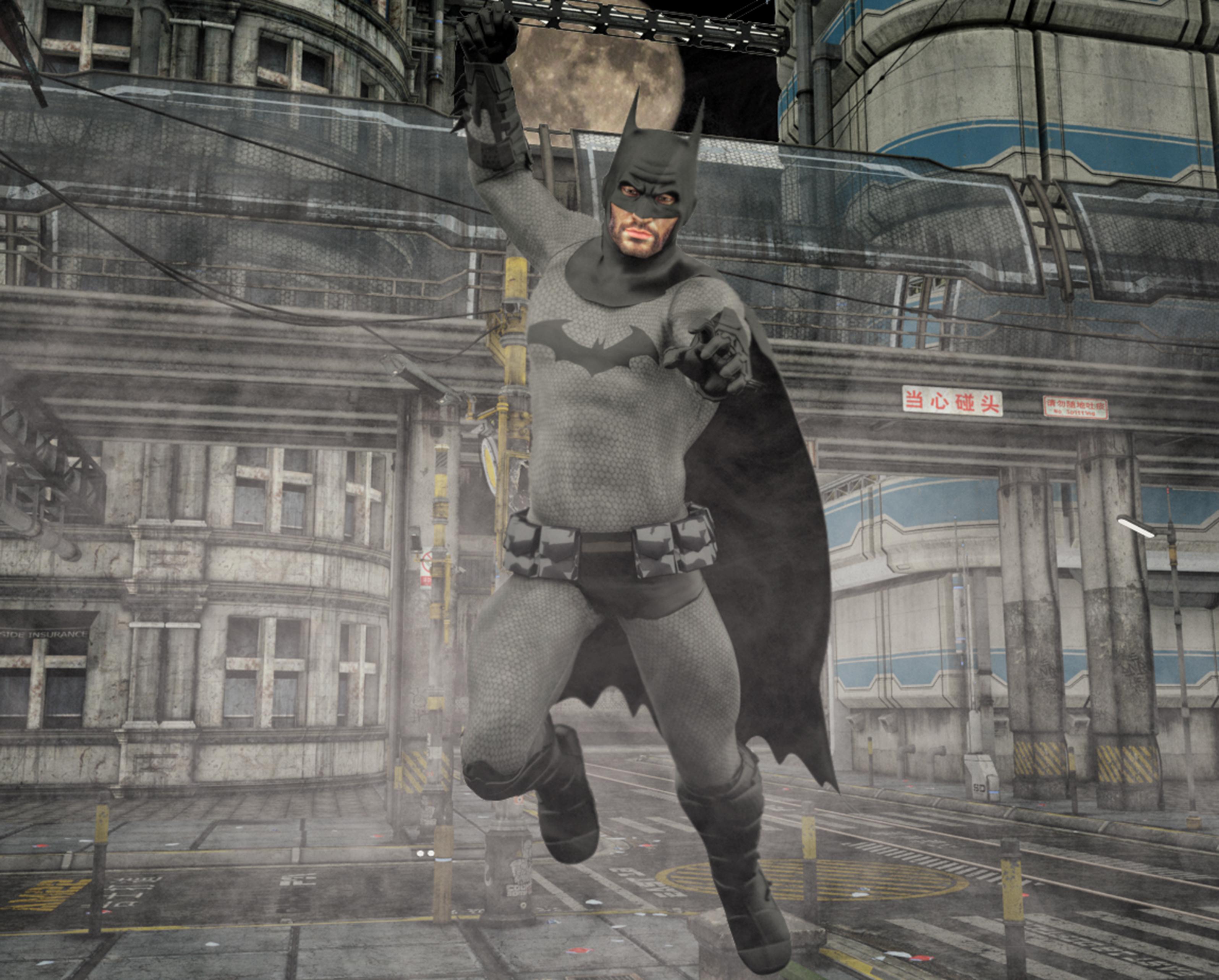 Batman arkham  text x Goldenage suit by Joequick