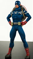 Captain america 2nd skin textures for M4