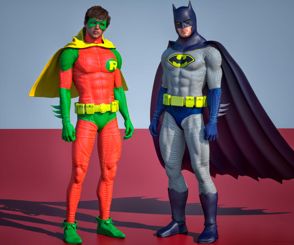 Batman and Robin 2nd skin textures for M4 by hiram67